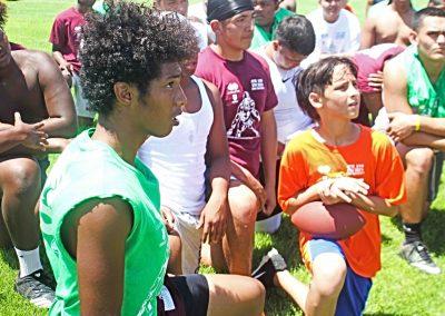 MG Camp kids take a knee
